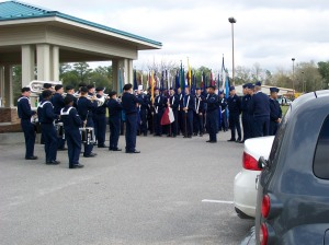Air Force band, staging area