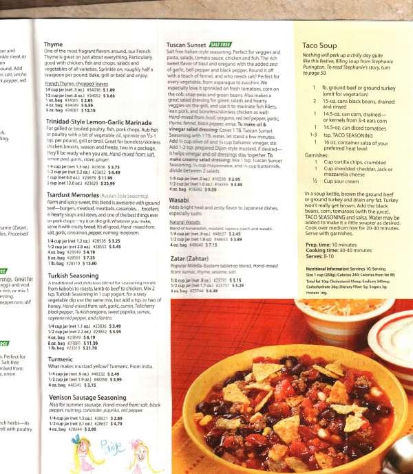 Penzeys Taco Soup