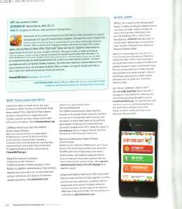 Food & Nutrition web tools