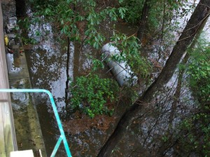 Our propane tank - don't float away! Last time cost $300+